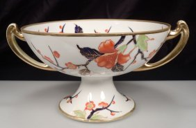 Noritake Centerpiece Floral Butterfly Footed Compote