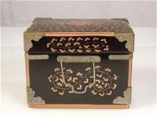 Antique Japanese Lacquer Ware Wood Box