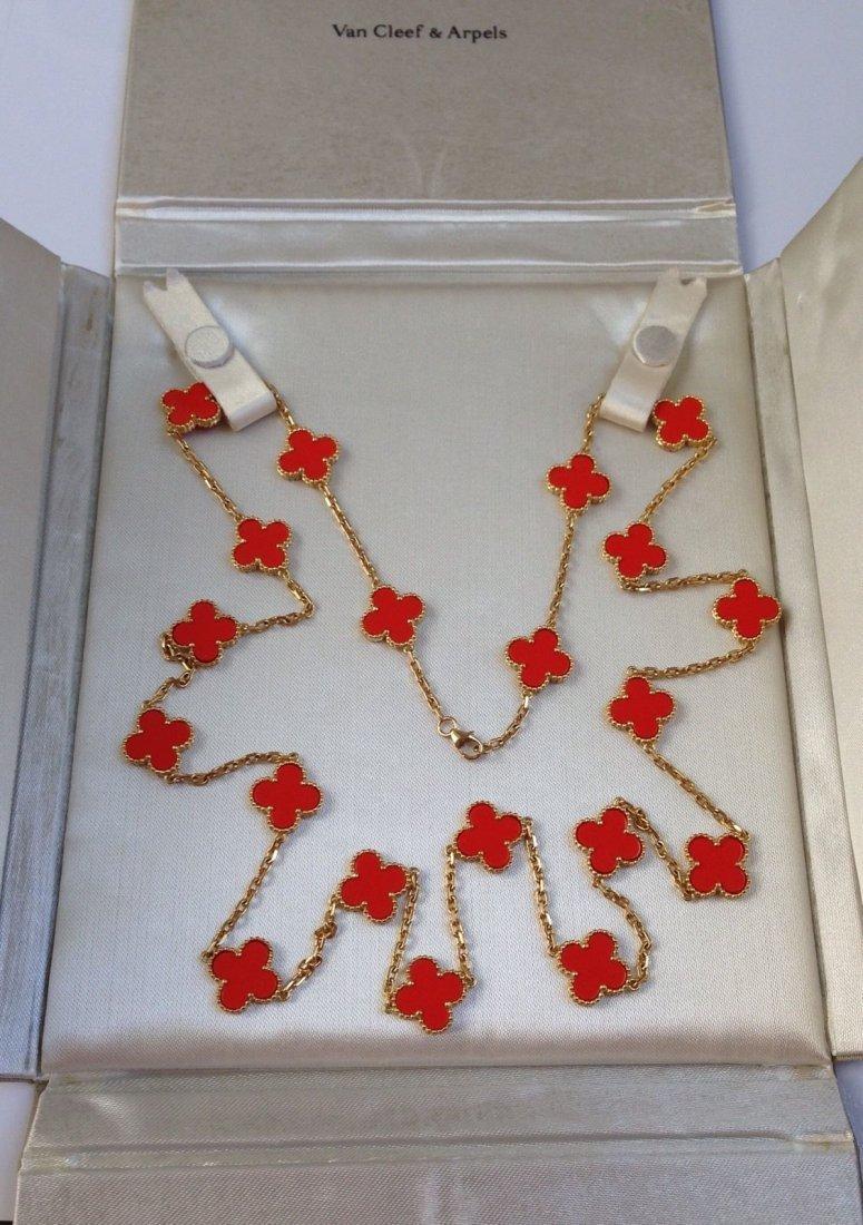 Van Cleef & Arpels: 18K Gold Alhambra Necklace