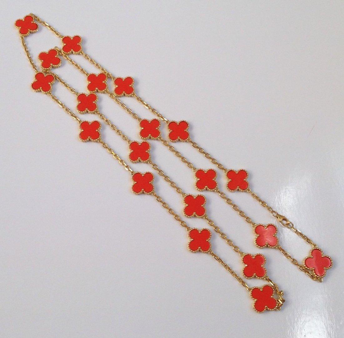 Van Cleef & Arpels: 18K Gold Alhambra Necklace - 2