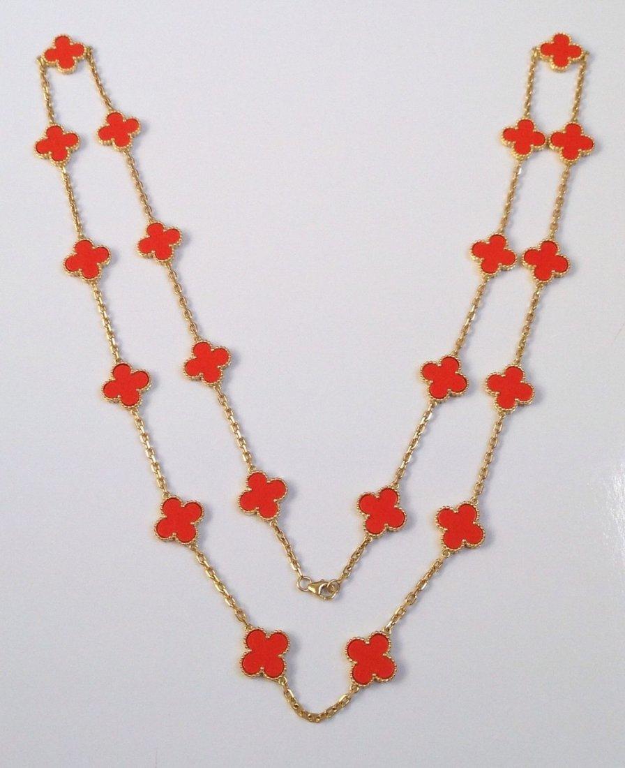 Van Cleef & Arpels: 18K Gold Alhambra Necklace - 3