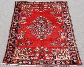 Highly Detailed Hand Woven Persian Lilian, 5 X 7.3