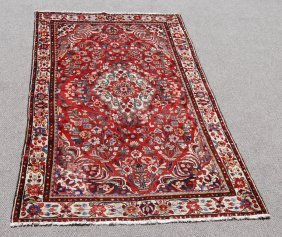 Highly Detailed Hand Woven Persian Lilian, 5.1 X 8.6