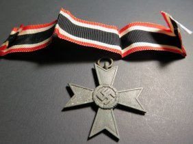 Wwii German Nazi War Merit Cross With Ribbon