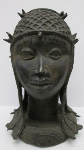 Large Benin Bronze Head