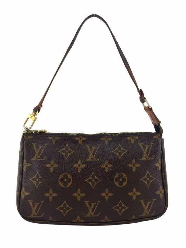Louis Vuitton: Monogram Canvas Pochette, Brown