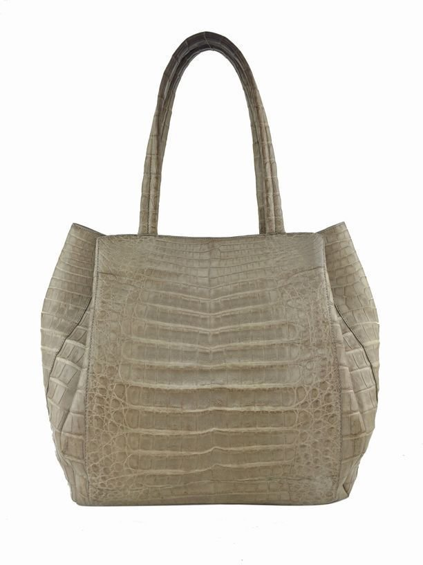 Nancy Gonzalez: Crocodile Tote Bag, Beige