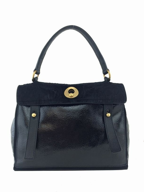 Yves Saint Laurent: Leather & Pony Hair Bag, Black