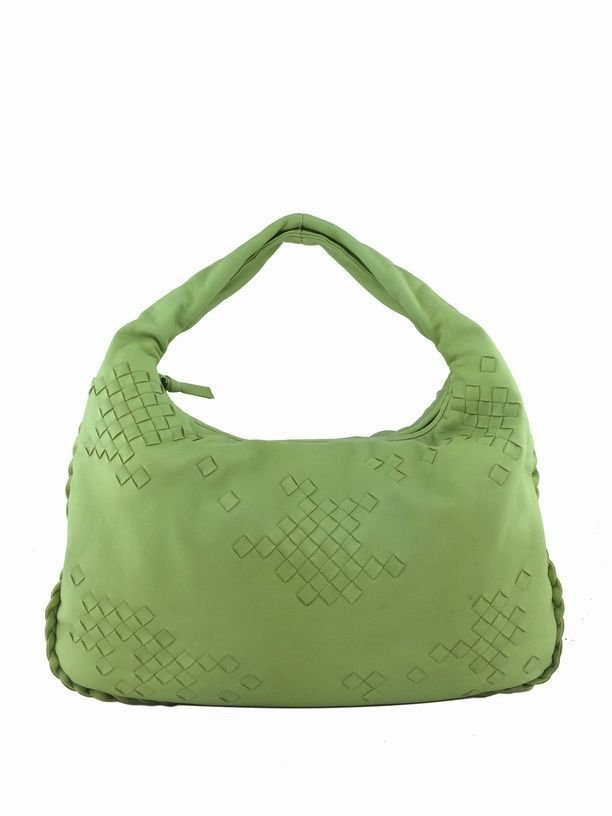 Bottega Veneta: Nappa Woven Leather Bag, Green