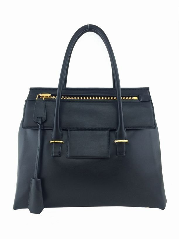 Tom Ford: Leather Icon Tote Bag, Black