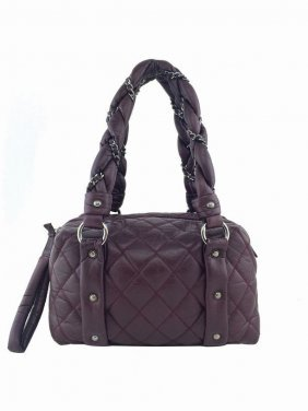 Chanel Bubble Quilted Leather Lady Braid Small Bowler