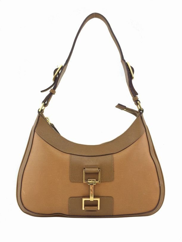 Gucci: Leather Jackie O Bag, Camel