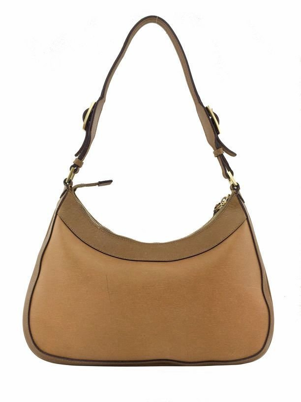 Gucci: Leather Jackie O Bag, Camel - 4