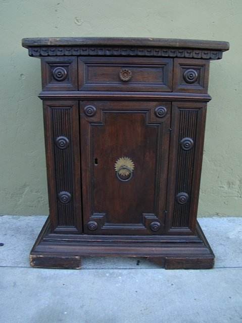 Spanish Colonial 18th Century Cabinet Walnut & Pine