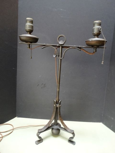 Spanish Colonial Revival Double Oil Lamp
