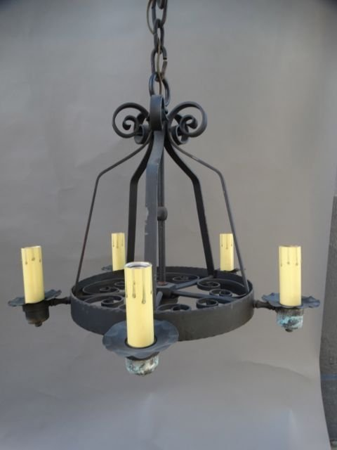 5-light Wrought Iron Chandelier