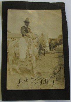 Signed Cowboy Jack Kelly Antique Photograph