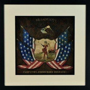Massachusetts State Seal Rare Antique Silk