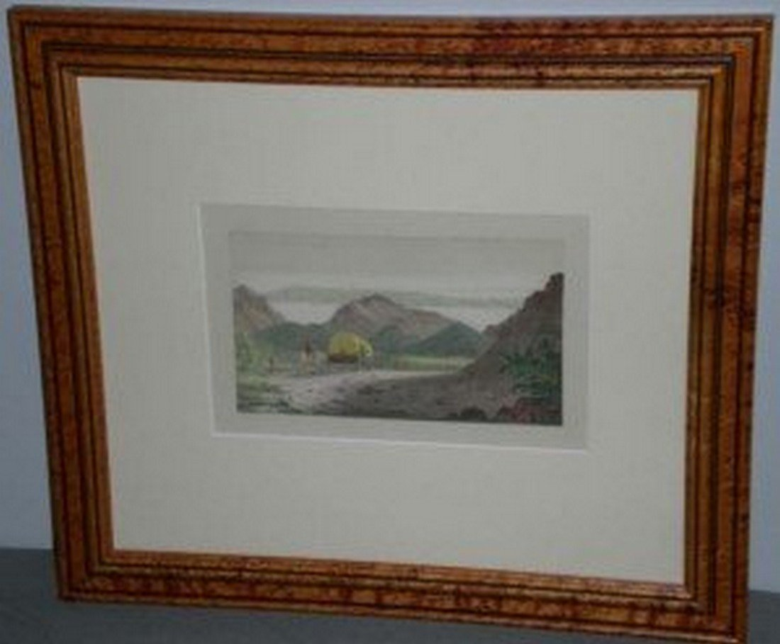 1840 Hand Colored Salt Lake City by George Catlin