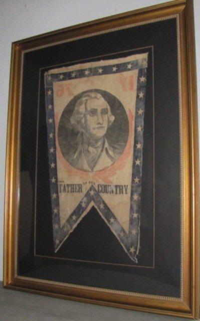 1876 Large George Washington Banner