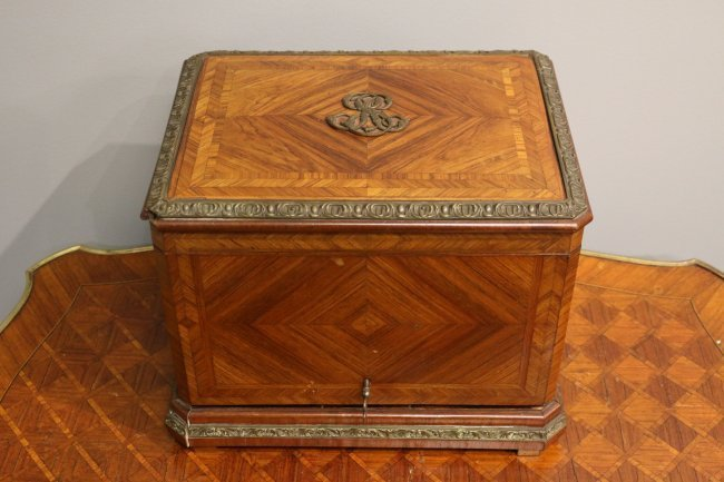 19th Century French Tantalus in satin wood