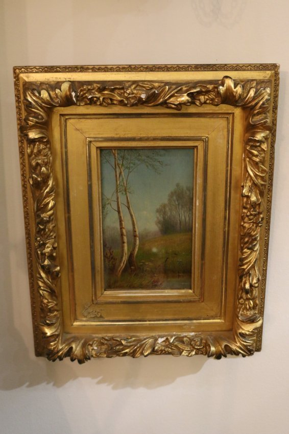 One early 20th century American oil on canvas landscape