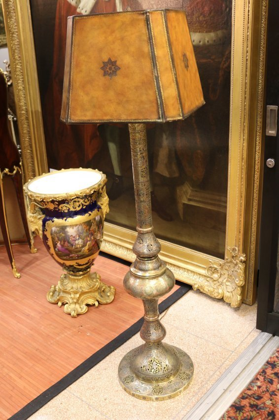 One early 20th century Persian floor lamp