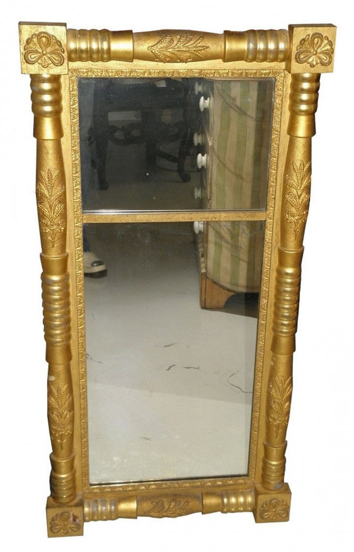 Antique Early 19C Regency Style Classical Gilt Wood