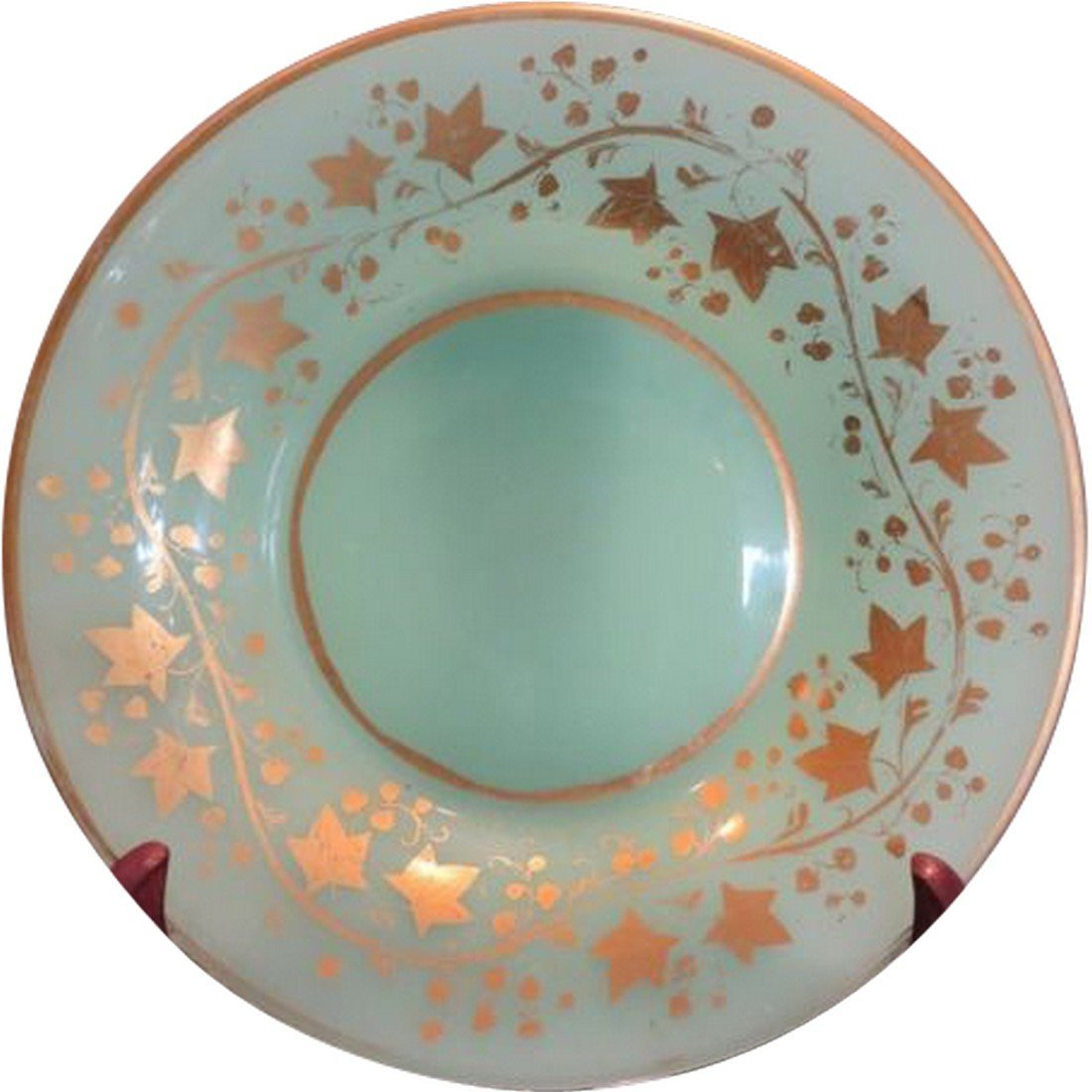 Unusual Antique Baccarat French Opaline Green Glass