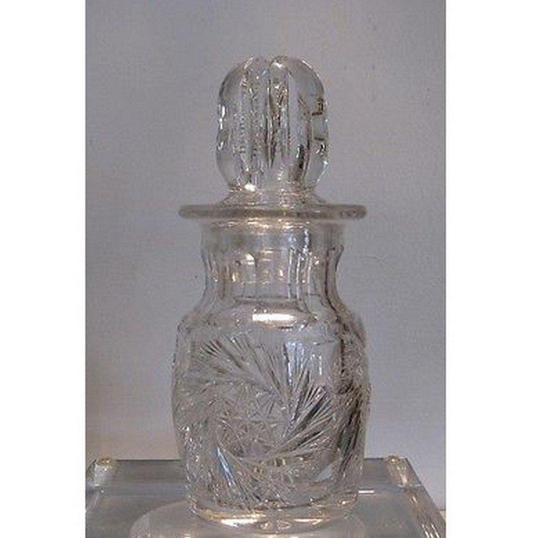 Fabulous Antique American Brilliant Cut Glass Perfume - 2