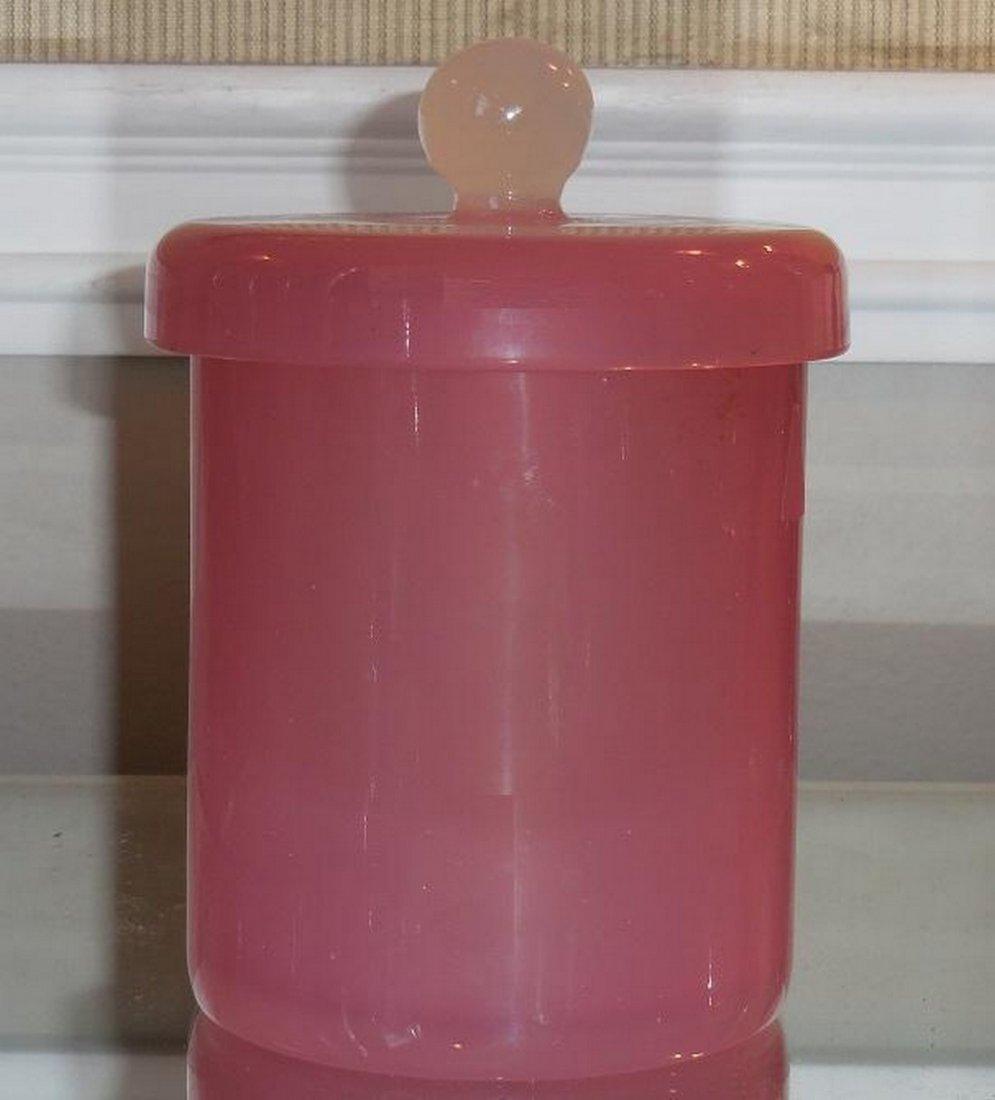 Rare Antique Baccarat Pink Opaline Glass Box - 2