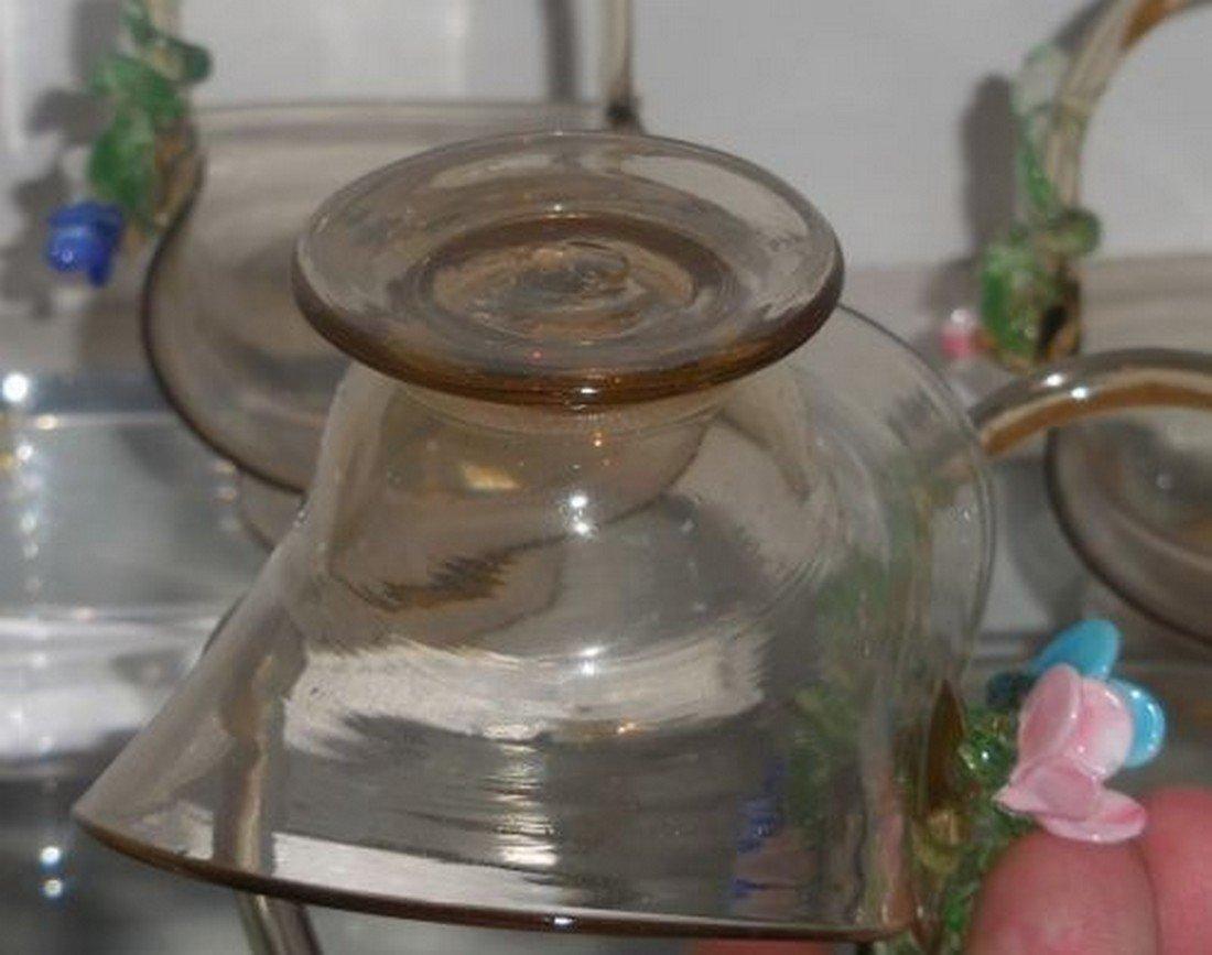 Set of 4 Antique Italian Amber Venetian Art Glass - 4