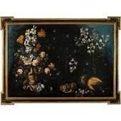 Spectacular Antique 17th C Italian Still Oil Painting