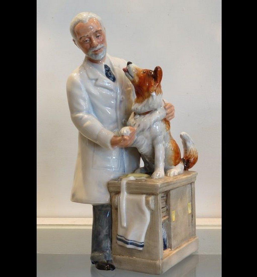 Signed Royal Doulton Porcelain Dog & Veterinarian - 3
