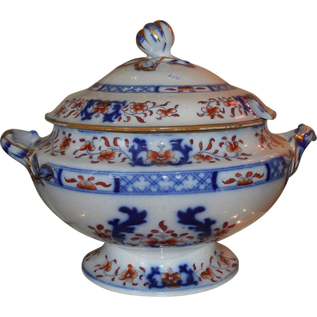 Huge Antique Early 19th C English Imari Pottery