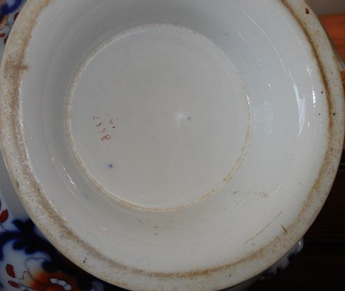 Huge Antique Early 19th C English Imari Pottery - 4
