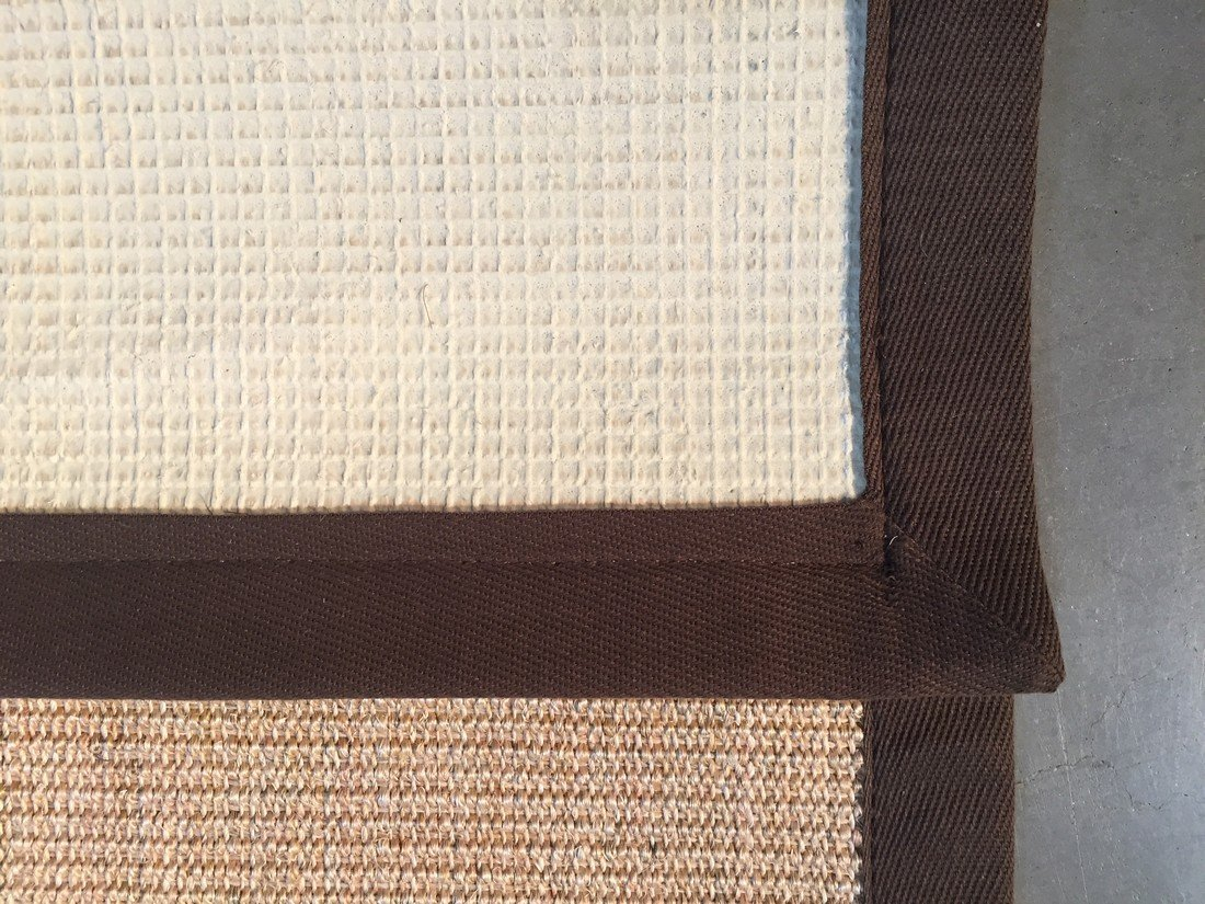 "6X9  Eco Natural Fiber Cotton Border ""SISAL"" Rug - 7"