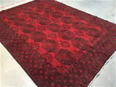 7X9 AUTHENTIC AFGHAN HAND KNOTTED WOOL  RUG