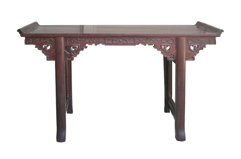 Chinese Ming Style Rosewood Dragon Altar Table Desk