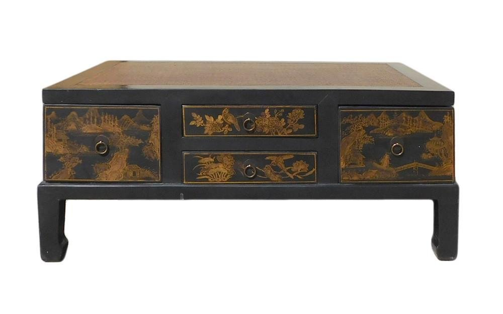 Chinese Golden Swing Drawer Coffee Table