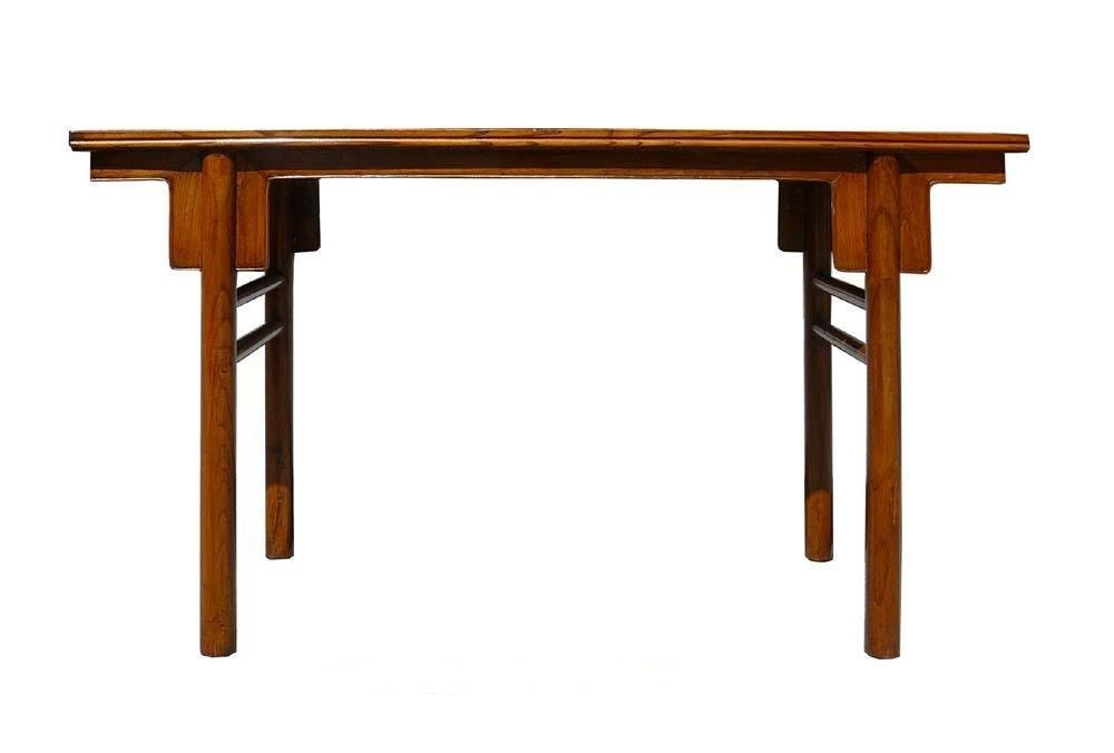 Chinese Natural Wood Plain Altar Console Table