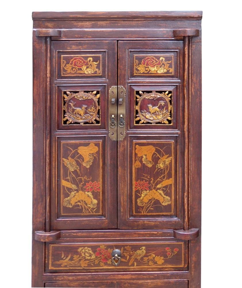 Wood Cabinet with Relief Carving, China - 2