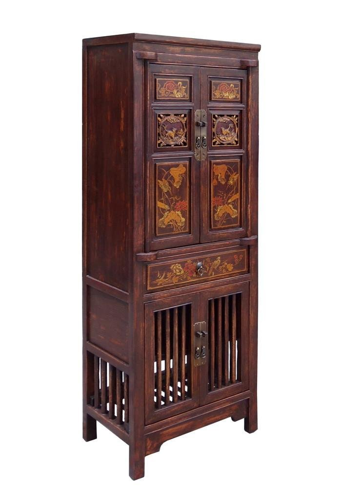 Wood Cabinet with Relief Carving, China - 3