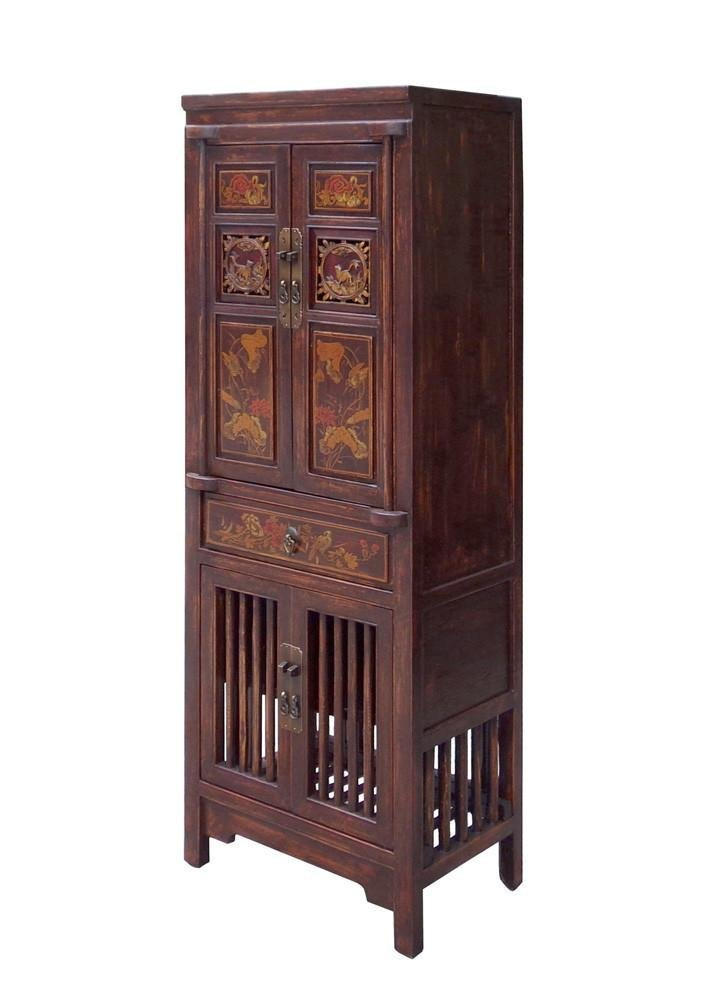 Wood Cabinet with Relief Carving, China - 4