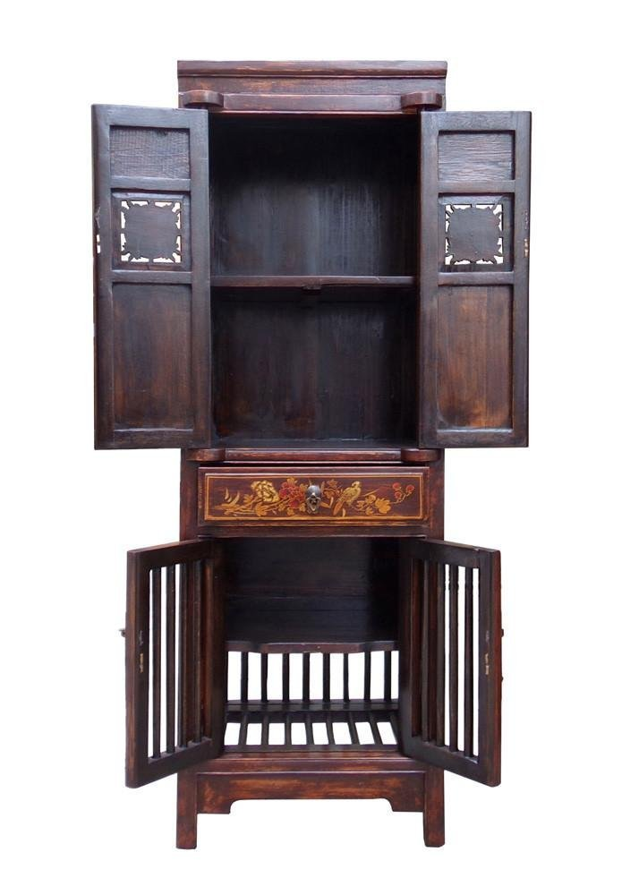 Wood Cabinet with Relief Carving, China - 5