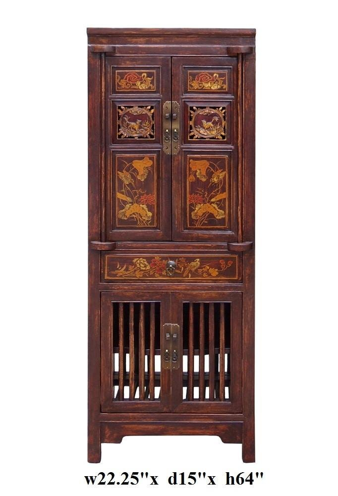 Wood Cabinet with Relief Carving, China - 6