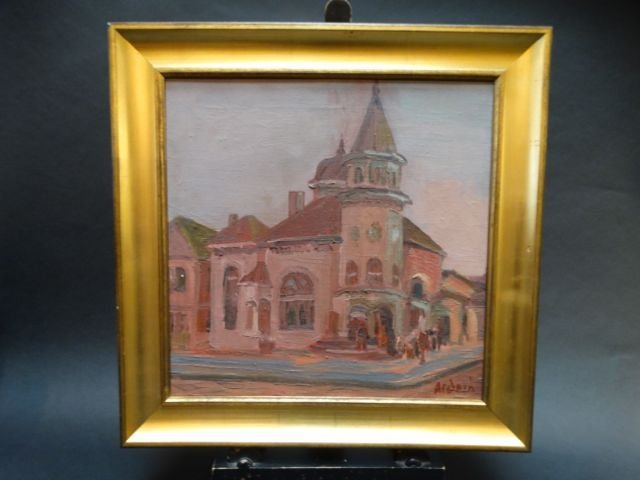 Anders Aldrin: Los Angeles, Church on Corner 1937