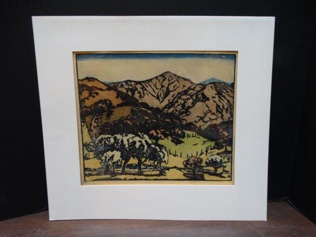 Anders Aldrin: Block Print, California Hills, Version
