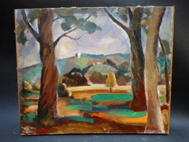Anders Aldrin Los Feliz Hills 1926 Oil on Canvas
