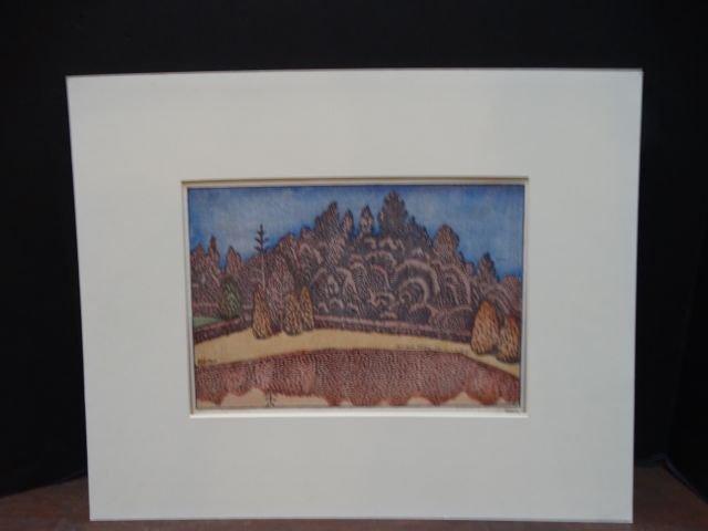 Anders Aldrin: Block Print, Forest & Field, Version 1